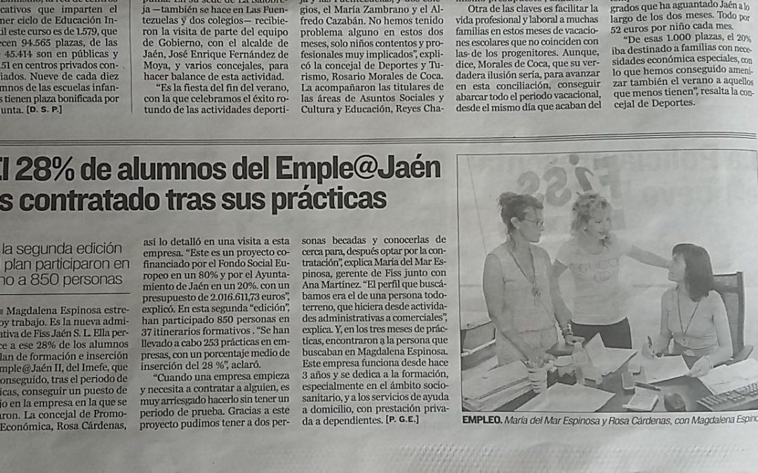 28% de alumnos del Emple@Jaén es contratado tras sus prácticas