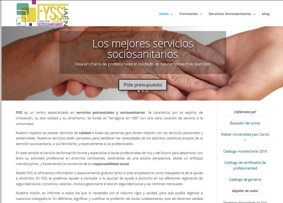 captura nueva web Fiss Jaén