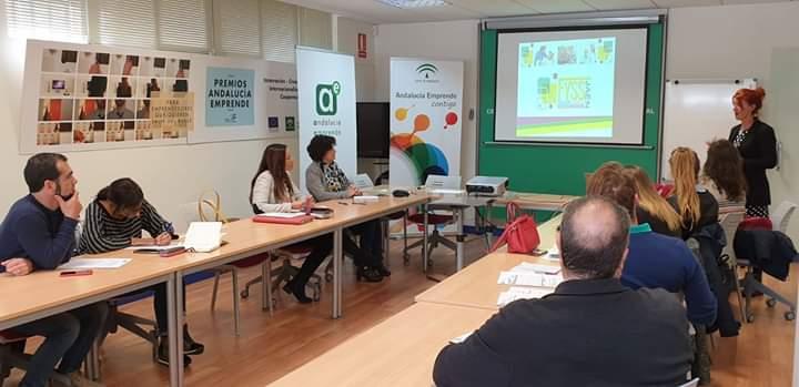 TALLER EN CADE Jaén con emprendedores.